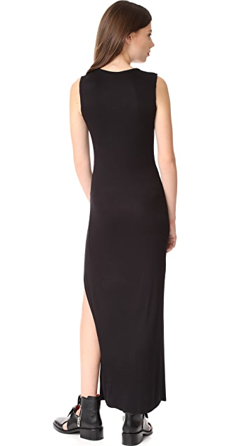 The Range High Slit Muscle Maxi Dress