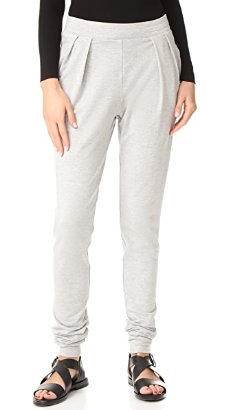 The Hours Stacked Joggers - Heather Grey