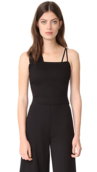 The Hours Banded Crop - Black