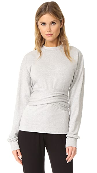The Hours Bandage Sweatshirt - Heather Grey