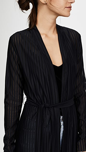 The Range Broken Stripe Robe Jacket