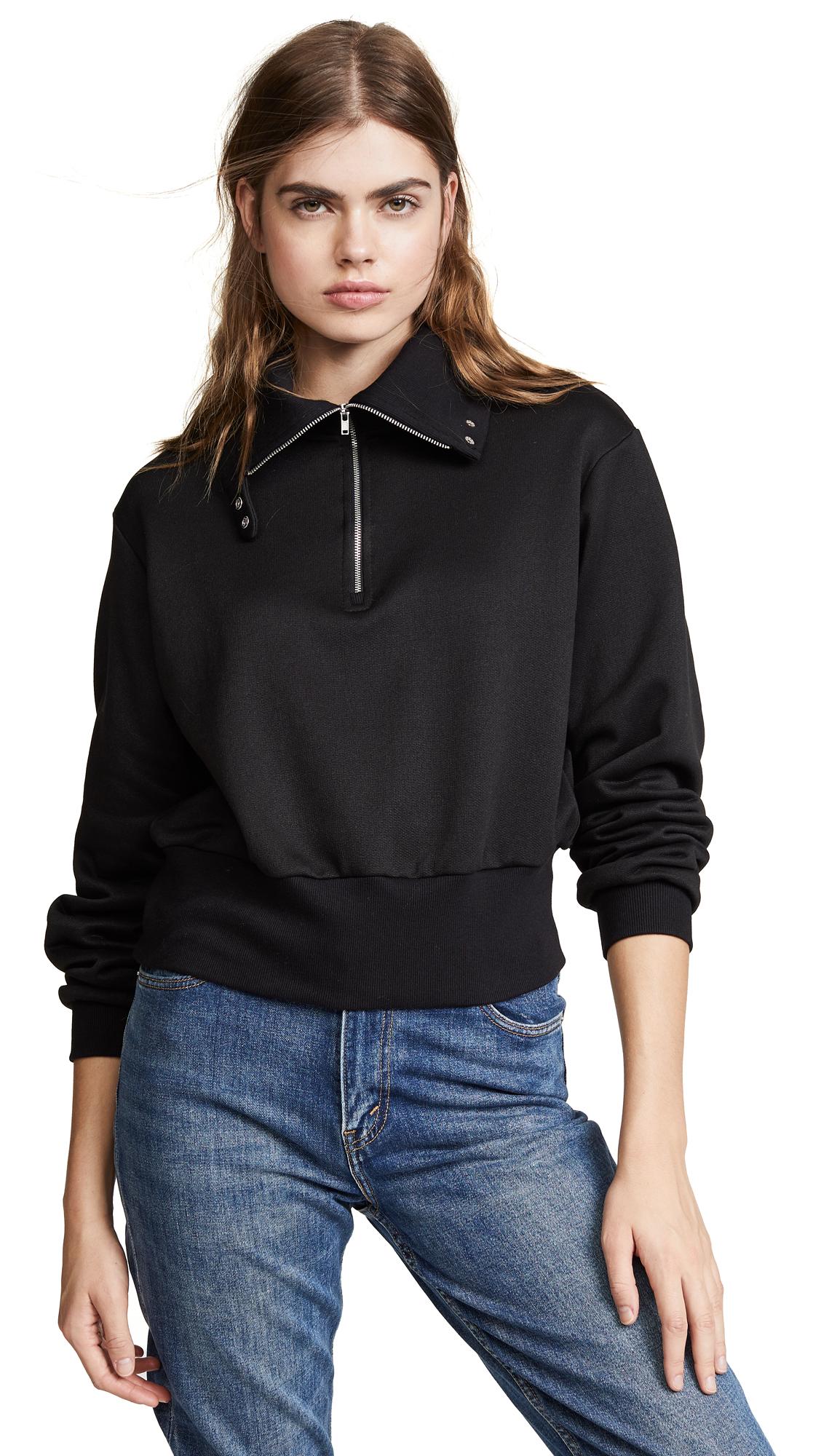 The Range Half Zip Pullover In Jet Black