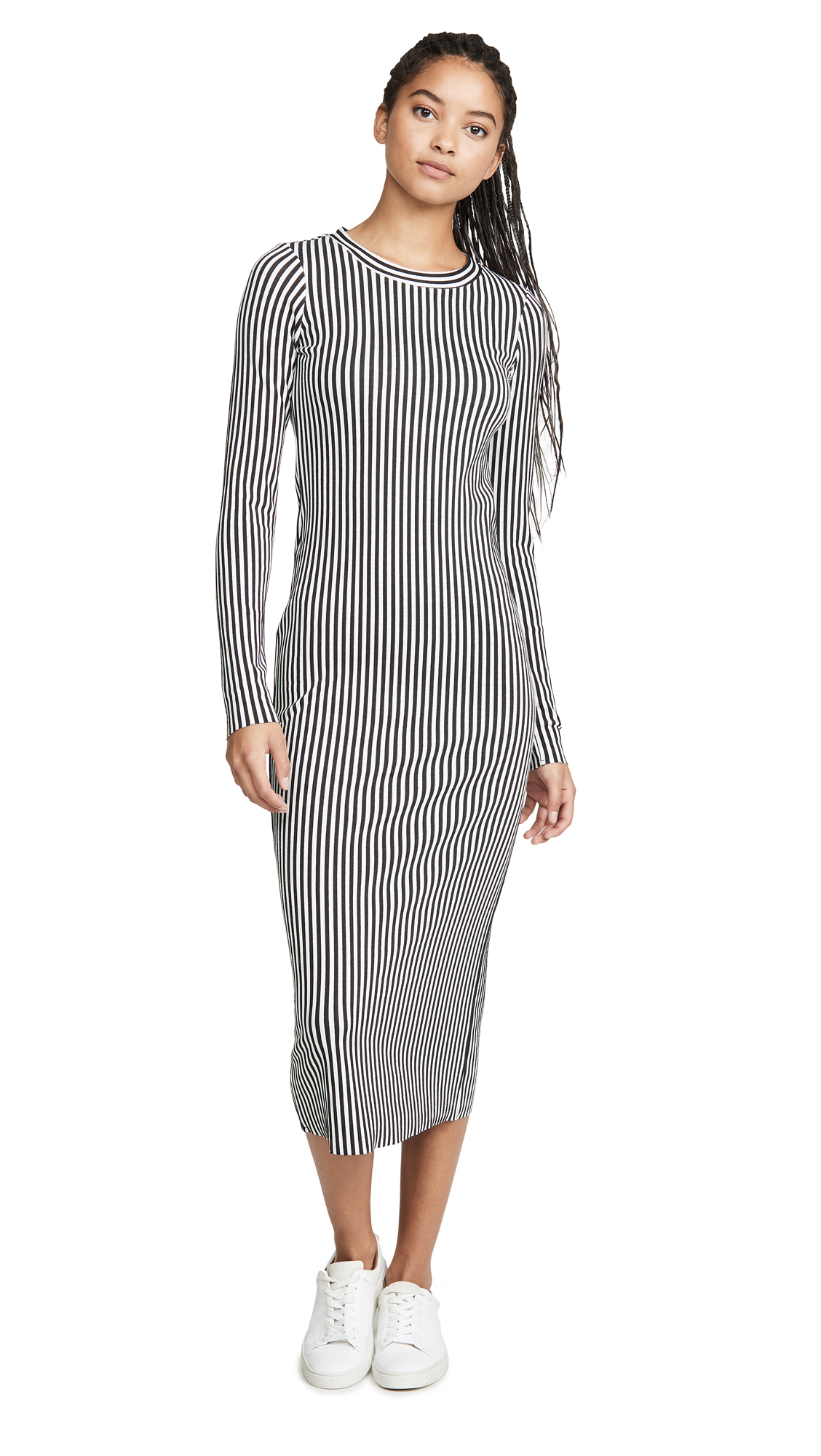 Buy The Range online - photo of The Range Bound Striped Midi Dress