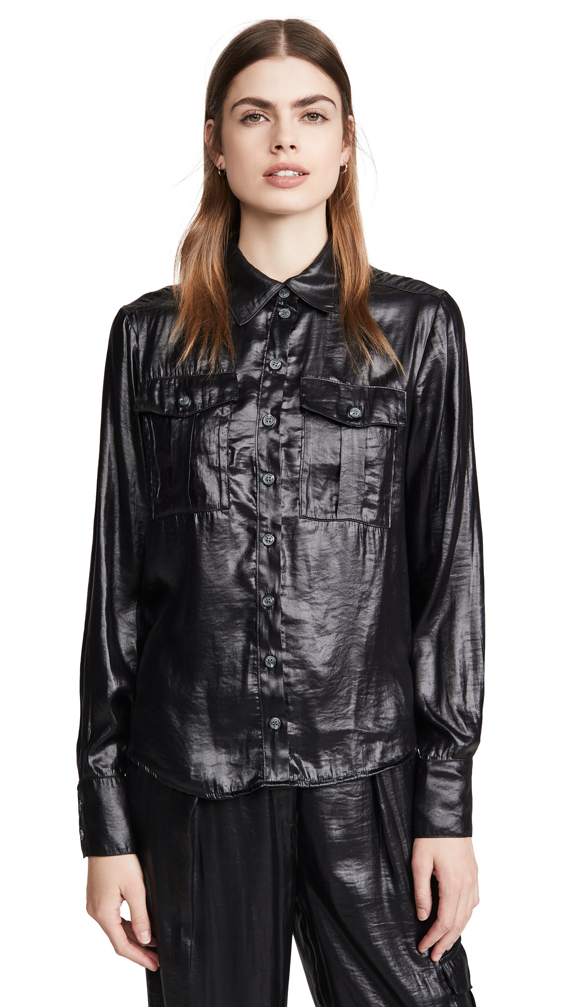 The Range Lucid Satin Military Shirt - 30% Off Sale