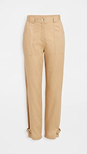 The Range Tide Linen Twill Utilitarian Straight Pants