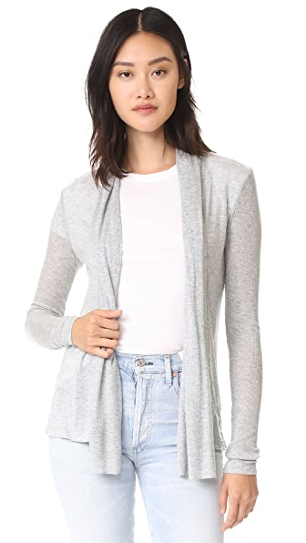 Three Dots Long Sleeve Open Cardigan at Shopbop