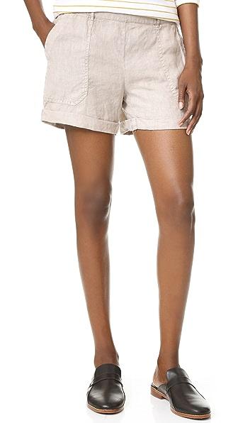 Joyce Cuffed Linen Shorts
