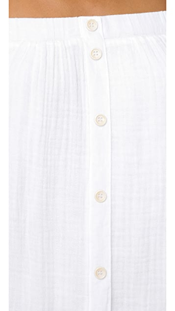 Three Dots Long Sleeve Shirt Tunic
