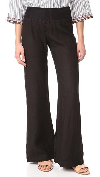 Three Dots Wide Leg Pants - Black