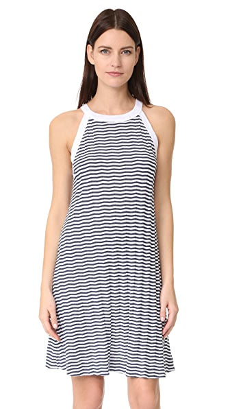 Three Dots Swing Tank Dress - White