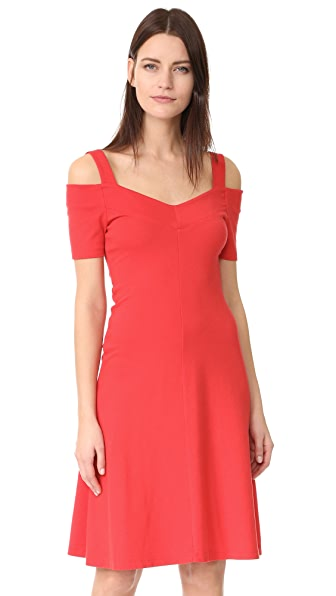 Three Dots Cold Shoulder Dress - Hibiscus Red