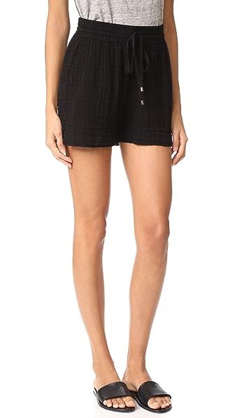 Three Dots Double Gauze Shorts