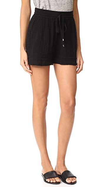 Three Dots Double Gauze Shorts
