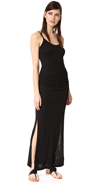 Three Dots Shirred Maxi Dress