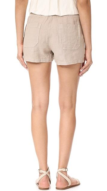 Three Dots Linen Shorts