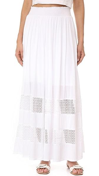 Three Dots Maxi Skirt - White