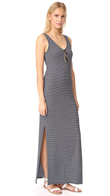 Three Dots V Neck Maxi Dress