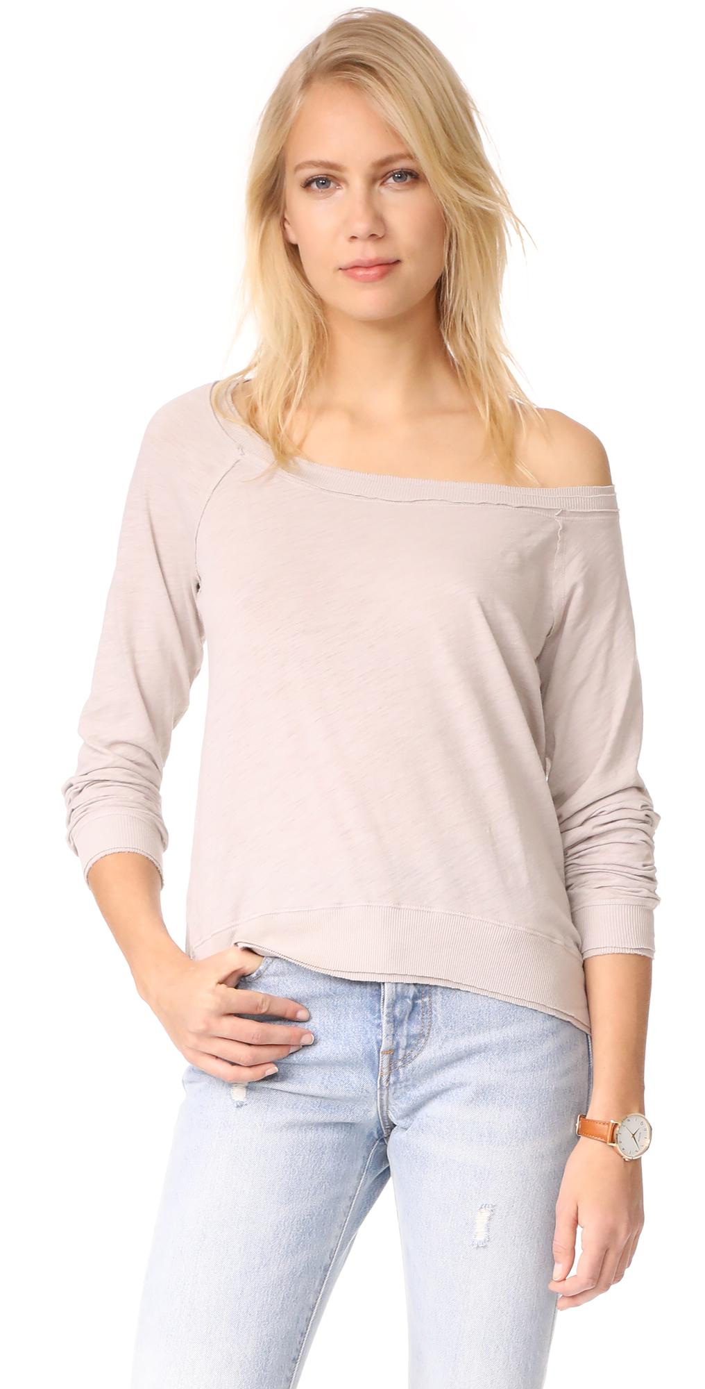 Off Shoulder Sweatshirt Three Dots