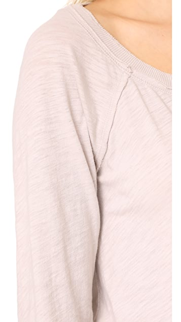 Three Dots Off Shoulder Sweatshirt