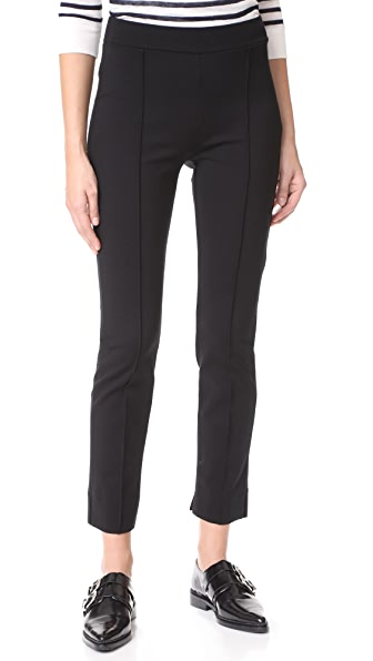Three Dots Ponte Pintucked Pants In Black