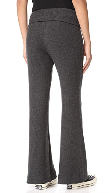 Three Dots Wide Leg Rib Pants