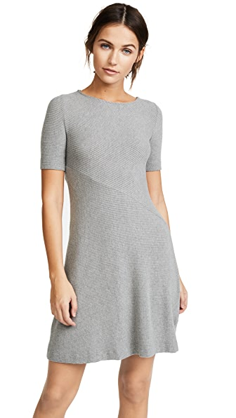 Three Dots Short Sleeve Dress In Granite