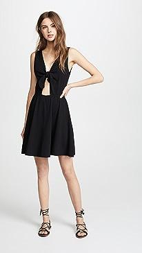 Three Dots. Reversible Tie Dress