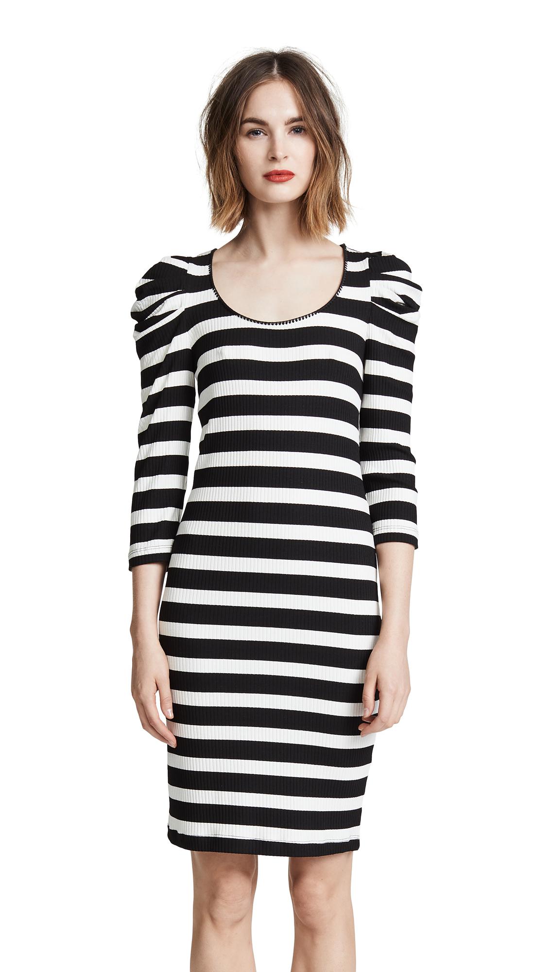 Three Dots Puff 3/4 Sleeve Dress
