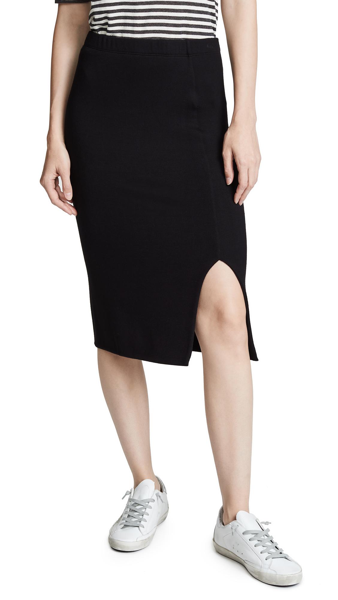 Three Dots Pencil Skirt - Black