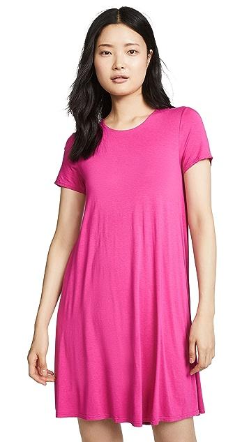 Photo of  Three Dots Short Sleeve Crew Neck Dress - shop Three Dots dresses online sales