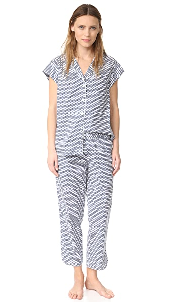 Three J NYC Poppy PJ Set - Navy White Small Dot