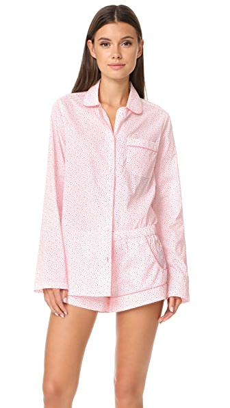 Three J NYC Josephine PJ Set - Coral Scattered Star