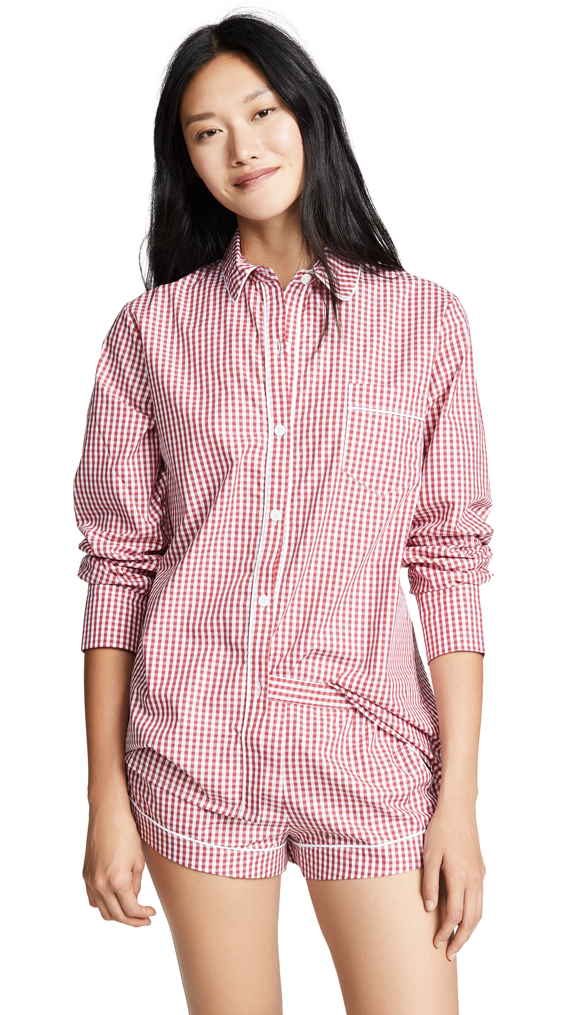 THREE J NYC Emily Pj Set in Red Check