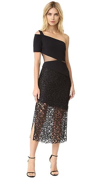 Three Floor Oblique Dress - Black
