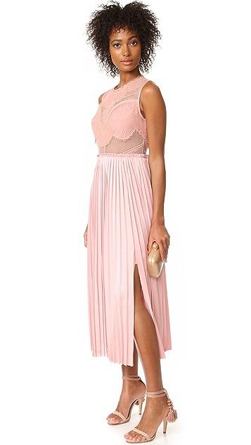 Three Floor Pop of Peony Lace Dress