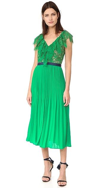 Three Floor Плиссированное платье Dress Code
