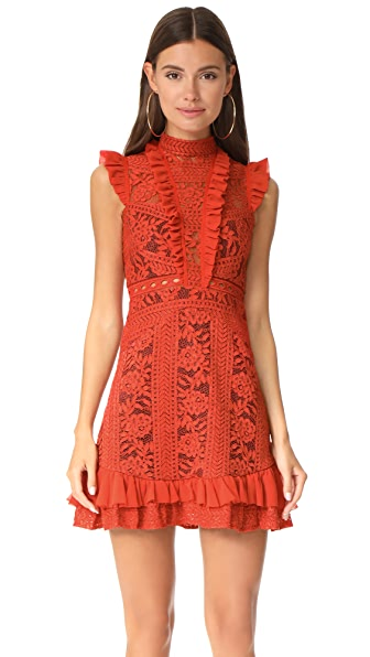 Three Floor Sienna Dress - Rust Red