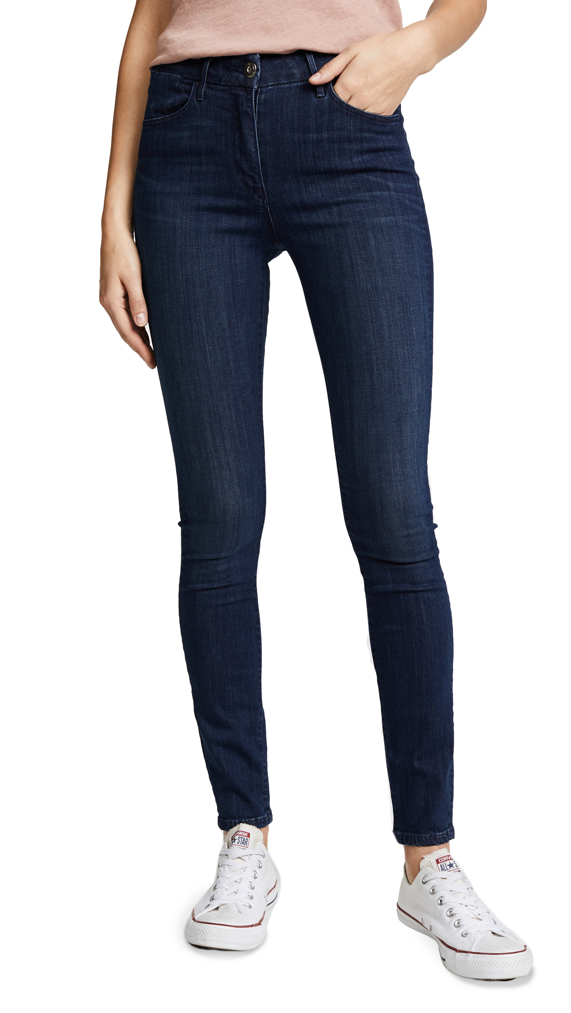 3x1 W3 Channel Seam Skinny Jeans - Wash No. 3