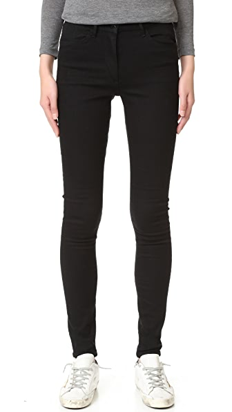 3x1 W3 Channel Seam Skinny Jeans - Black