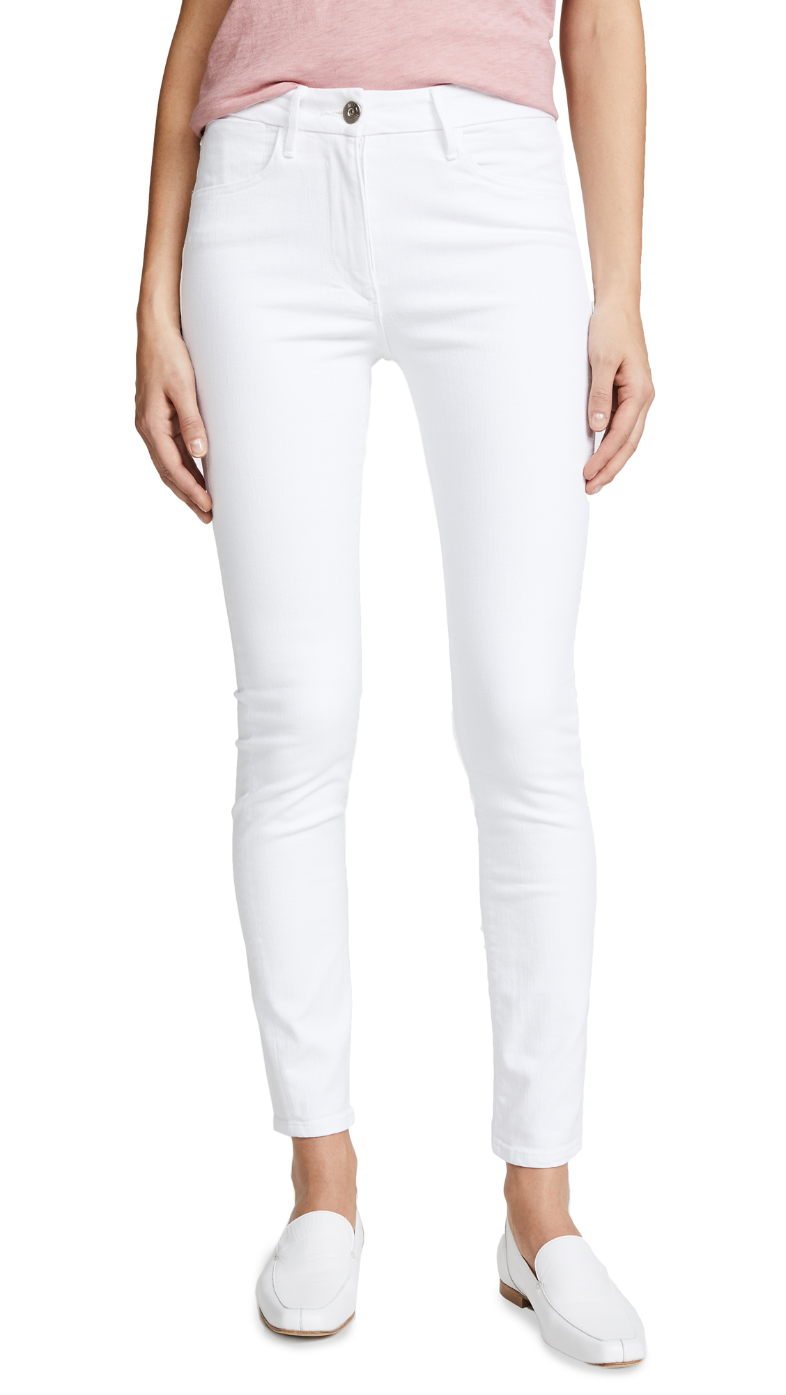 3x1 W3 High Rise Channel Seam Skinny Jeans In Aspro