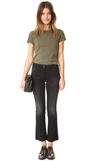 3x1 W2 Military Crop Baby Boot Jeans