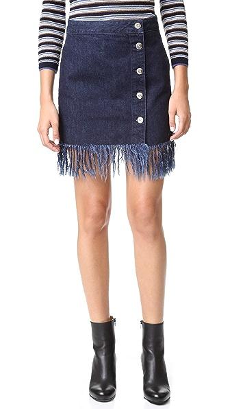 3X1 Ws Asymmetrical Fringe Skirt - Chief
