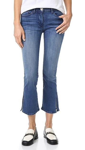 3x1 W2 Split Bell Crop Jeans