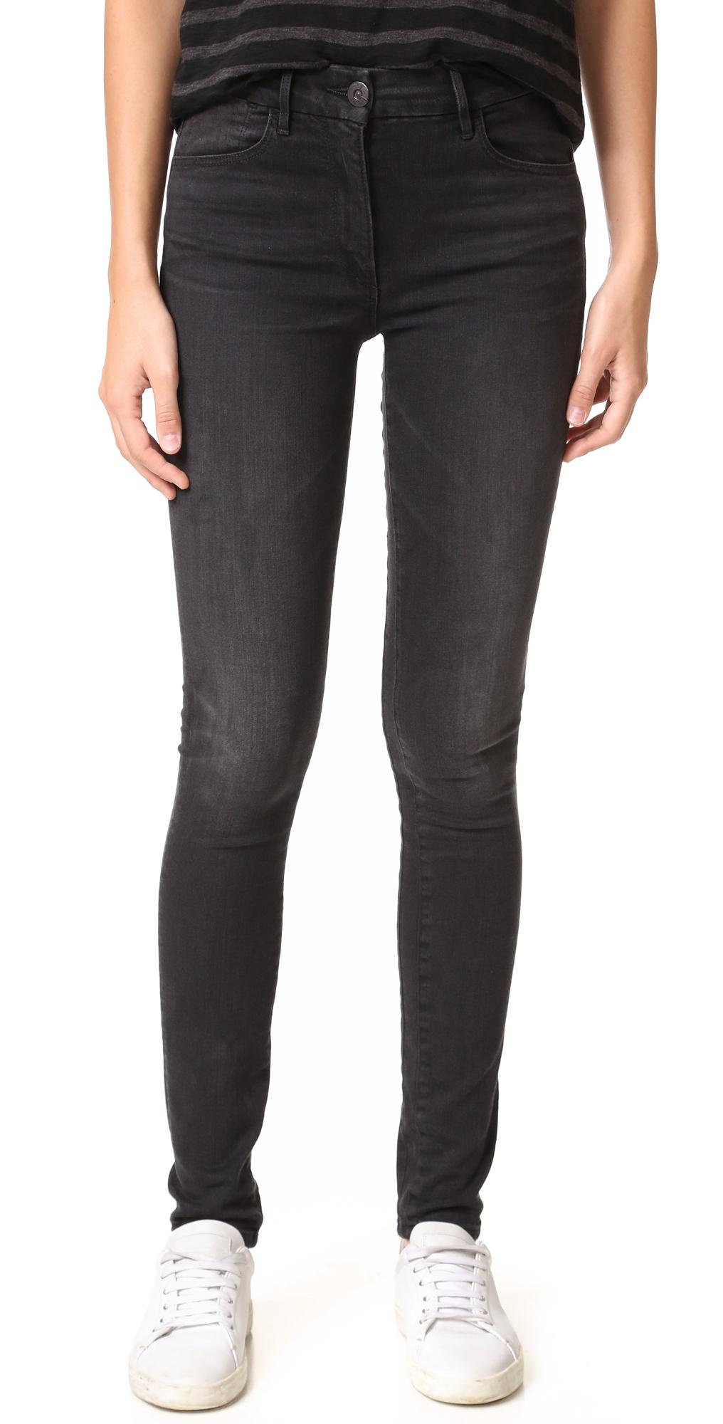 W3 Channel Seam High Rise Skinny Jeans 3x1