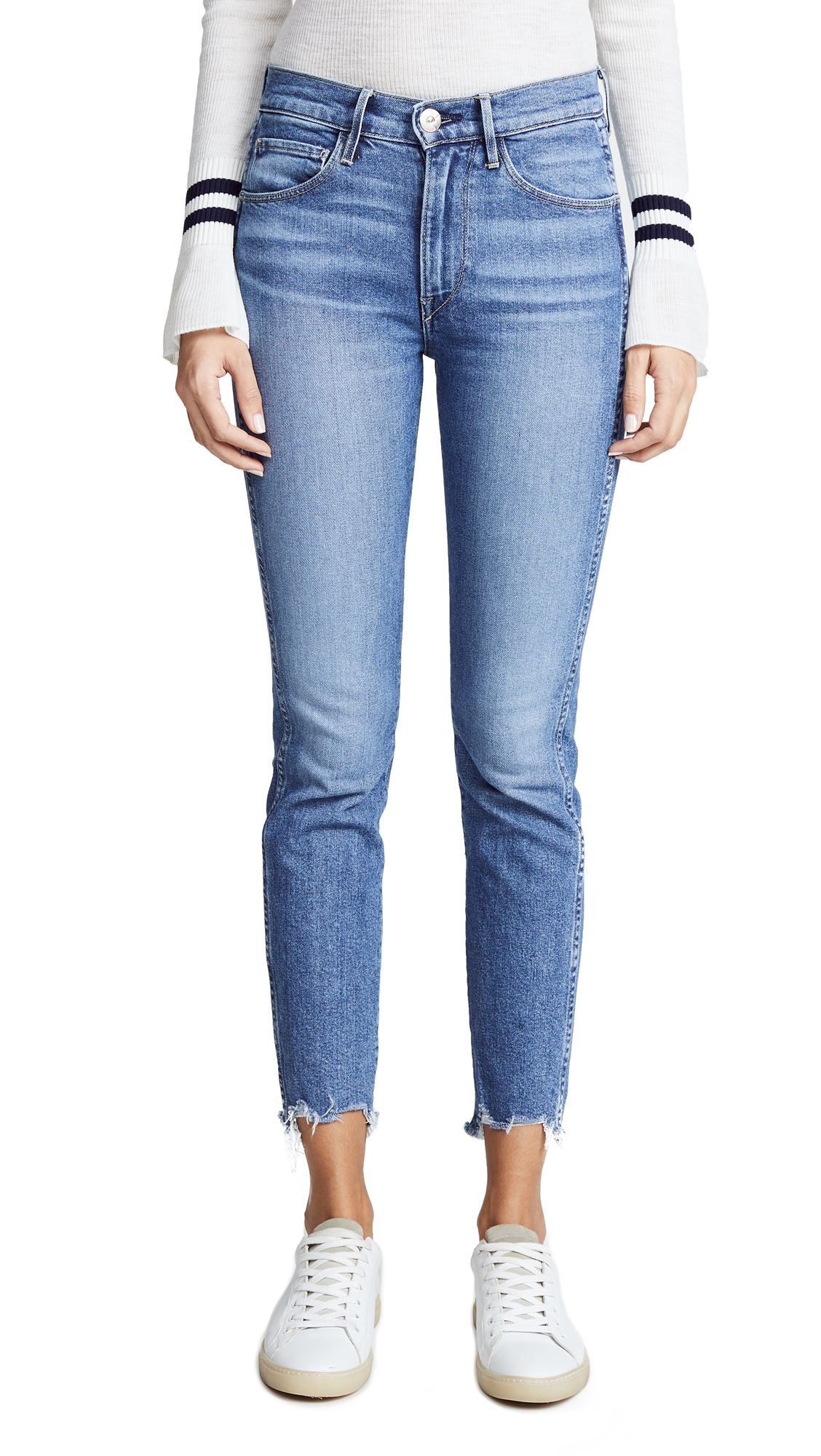 3x1 W3 Straight Authentic Crop Jeans - Ace