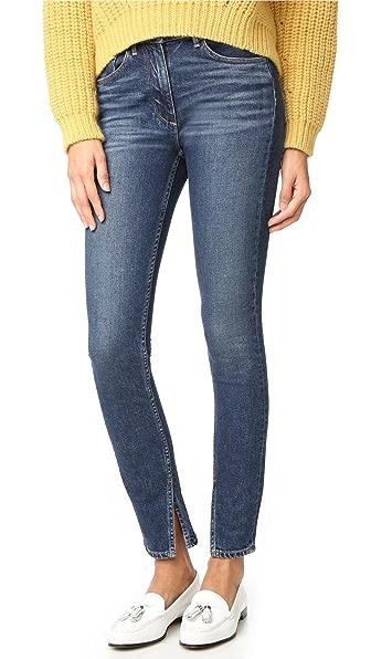 3x1 W3 Split Seam Skinny Jeans - Dark Sterling