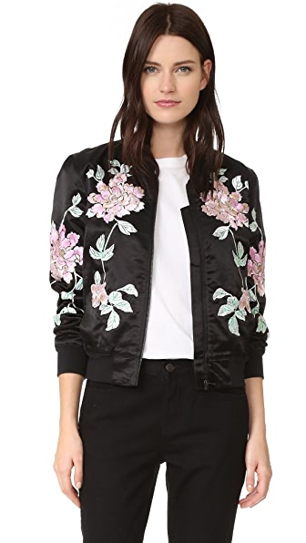 3x1 Satin Bomber Jacket