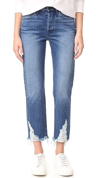 3x1 Higher Ground Boyfriend Crop Jeans - Rushmore