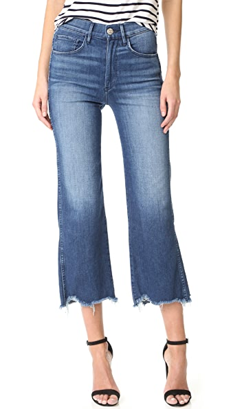 3x1 Shelter Wide Leg Cropped Jeans In Lawndale