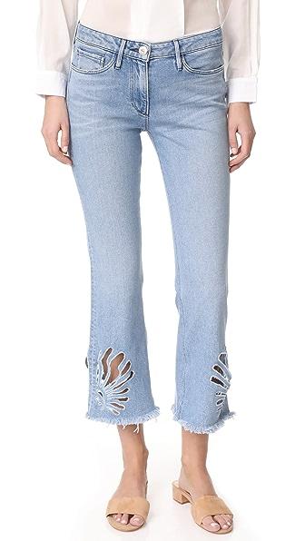 3x1 Freja Crop Bell Jeans - Elkhorn